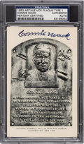Baseball Collectibles:Others, 1953 Connie Mack Signed Artvue Hall of Fame Postcard, PSA/DNA Authentic. ...