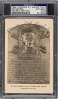 Baseball Collectibles:Others, 1946-52 Kid Nichols Signed Albertype Hall of Fame Postcard. ...