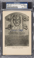 Baseball Collectibles:Others, 1953 Mel Ott Signed Artvue Hall of Fame Plaque, PSA/DNA Authentic....