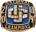 Basketball Collectibles:Others, 2003-04 University of Connecticut Huskies NCAA ChampionshipSalesman's Sample Ring....