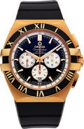 "Timepieces:Wristwatch, Omega 18k Gold ""Double Eagle"" Constellation Co-Axial Chronometer. ..."