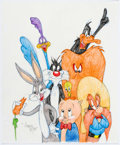 Animation Art:Production Drawing, Virgil Ross - Looney Tunes Cast Member Drawing (Warner Brothers, c.1990s). ...