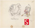 Animation Art:Production Drawing, Mickey's Service Station Peg Leg Pete Animation Drawing(Walt Disney, 1935).. ...
