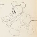 Animation Art:Production Drawing, Mickey Plays Papa Mickey Mouse Animation Drawing (WaltDisney, 1934). ...