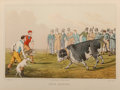 Fine Art - Work on Paper:Print, Six Henry Alkin Sporting Color Lithographs: Drawing the Badger, Spearing the Otter, Bear Baiting, Bull Baiting, Cock Fig... (Total: 6 Items)