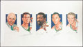 Autographs:Photos, 1990's Boston Celtics Legacy Multi-Signed Artist's ProofLithograph....