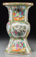 Asian:Chinese, A Chinese Export Rose Mandarin Porcelain Vase. 15-3/4 inches high(40.0 cm). Property from the Estate of Charles Schalebau...