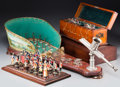 Other:European, An Olymphon Spring-Loaded Ring Toss Game, Ascot Mechanical HorseRacing Game, and Figural Chess Set, early 20th century and ...(Total: 3 Items)