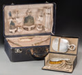 Decorative Arts, Continental:Other , Three Men's Dressing Travel Boxes, early 20th century. 6-1/4 h x 18w x 11-1/2 d inches (15.9 x 45.7 x 29.2 cm) (largest). ... (Total:3 Items)