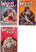 """Pulps:Horror, Weird Tales """"The People of the Black Circle"""" Group of 3 (PopularFiction, 1934).... (Total: 3 Comic Books)"""