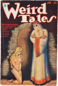 Pulps:Horror, Weird Tales - January 1934 (Popular Fiction) Condition: VG....