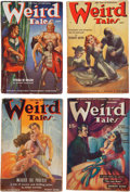 Pulps:Horror, Weird Tales Group of 4 (Popular Fiction, 1938-40) Condition: Average VG+.... (Total: 4 Comic Books)