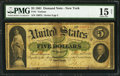 Large Size:Demand Notes, Fr. 1 $5 1861 Demand Note PMG Choice Fine 15 Net.. ... (Total: 3items)
