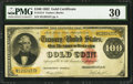 Large Size:Gold Certificates, Fr. 1214 $100 1882 Gold Certificate PMG Very Fine 30.. ...