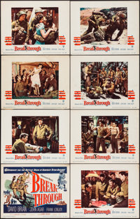 "Breakthrough (Warner Brothers, 1950). Lobby Card Set of 8 (11"" X 14""). War. ... (Total: 8 Items)"
