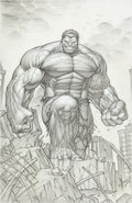 Original Comic Art:Covers, Dale Keown Hulk #24 Variant Cover Red Hulk Original Art(Marvel, 2010)....