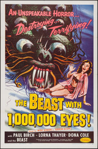 """The Beast with 1,000,000 Eyes! (American Releasing Corp., 1955). One Sheet (27"""" X 41""""). Science Fiction"""