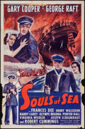 "Movie Posters:Adventure, Souls at Sea (Paramount, R-1943). One Sheet (27"" X 41"").Adventure.. ..."