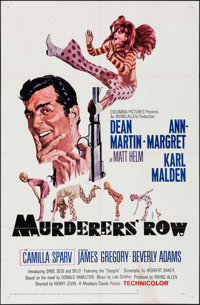 """Murderers' Row (Columbia, 1966). One Sheet (27"""" X 41""""). Action"""