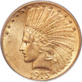 Indian Eagles, 1915-S $10 MS61 PCGS....