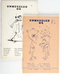 Magazines:Fanzine, Unmuzzled Ox #1 and 2 Group (Michael André, 1971-72) Condition: Average VG/FN.... (Total: 2 Comic Books)