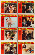 "Movie Posters:Adventure, Secret of the Incas & Other Lot (Paramount, 1954). Lobby CardSets of 8 (2 Sets) (11"" X 14""). Adventure.. ... (Total: 16 Items)"