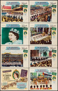 "Movie Posters:Documentary, A Queen is Crowned (Universal International, 1953). Lobby Card Set of 8 (11"" X 14""). Documentary.. ... (Total: 8 Items)"