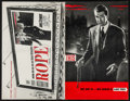 "Movie Posters:Hitchcock, Rope (Warner Brothers, 1948). Uncut Pressbook (Multiple Pages 11"" X17"" ). Hitchcock.. ..."