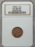 Proof Indian Cents, 1893 1C PR66 Red NGC....