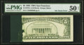 Error Notes:Ink Smears, Green Ink Smear on Back Error Fr. 1978-L $5 1985 Federal ReserveNote. PMG About Uncirculated 50 Net.. ...