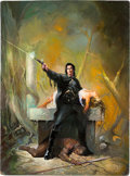 Original Comic Art:Covers, Ken Kelly Solomon Kane Cover Painting Original Art (Baen Book, 1995)....