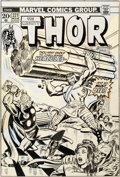 Original Comic Art:Covers, John Buscema and John Romita Sr. Thor #221 Cover HerculesOriginal Art (Marvel, 1974)....