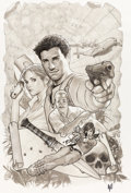 Original Comic Art:Covers, Adam Hughes Uncharted #1 Variant Cover Original Art(DC/Sony, 2012)....