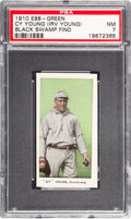 """Baseball Cards:Singles (Pre-1930), 1910 E98 """"Set of 30"""" Cy Young - Green (Black Swamp Find) PSA NM 7. ..."""