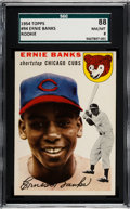 Baseball Cards:Singles (1950-1959), 1954 Topps Ernie Banks #94 SGC 88 NM/MT 8....