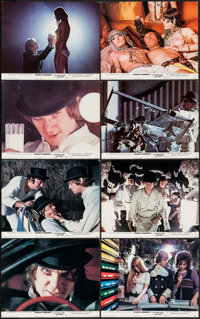 """A Clockwork Orange (Warner Brothers, 1971). British Front of House Lobby Cards (13) (8"""" X 10""""). Science Fictio..."""