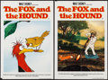 "Movie Posters:Animation, The Fox and the Hound (Buena Vista, 1981). British Double Crown Set of 4 (20"" X 30"") . Animation.. ... (Total: 4 Items)"