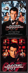"""Movie Posters:James Bond, Tomorrow Never Dies Lot (United Artists, 1997). Program (Multiple Pages, 8.25"""" X 11.75""""), International Lobby Card Set of 8 ... (Total: 36 Item)"""