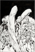 Original Comic Art:Covers, Mark Bagley and Scott Hanna Thunderbolts #27 Cover Hawkeyeand Angel Original Art (Marvel, 1999)....
