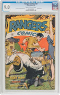 Golden Age (1938-1955):Adventure, Rangers Comics #29 (Fiction House, 1946) CGC VF/NM 9.0 Cream to off-white pages....