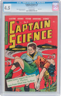 Golden Age (1938-1955):Science Fiction, Captain Science #2 (Youthful Magazines, 1951) CGC VG+ 4.5 Off-whitepages....