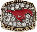 Basketball Collectibles:Others, 2015 Larry Brown SMU Mustangs American Conference ChampionshipSalesman's Sample Ring....