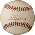 Baseball Collectibles:Balls, 1939 Lou Gehrig Single Signed Baseball--One of His Very Last Autographs....