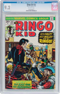 Bronze Age (1970-1979):Western, The Ringo Kid #22 (Marvel, 1973) CGC NM- 9.2 Off-white pages....
