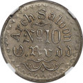 Civil War Merchants, (1861-65) TOKEN Arch Saloon Token, No. 10, O. Rudd, Fuld-250A-1b(fp) (formerly CT600B), R.8, MS62 NGC....