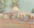 Fine Art - Painting, European:Modern  (1900 1949)  , Vassilis Magiassis (Greek, 1880-1926). A North African StreetScene. Oil on canvas. 19-1/2 x 24 inch...