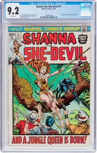 Shanna the She-Devil #1 (Marvel, 1972) CGC NM- 9.2 White pages