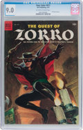 Golden Age (1938-1955):Western, Four Color #617 The Quest of Zorro (Dell, 1955) CGC VF/NM 9.0Off-white to white pages....