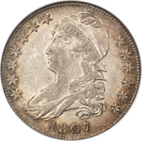 1807 50C Capped Bust, Large Stars, 50 Over 20, O-112, R.1, AU58 NGC....(PCGS# 39356)