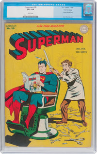 Superman #38 (DC, 1946) CGC VF+ 8.5 White pages